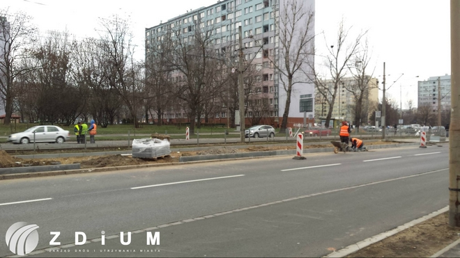 Na ulicach Ślężnej i Borowskiej przy skrzyżowaniach z ul. Sieradzką trwa przebudowa układu drogowego