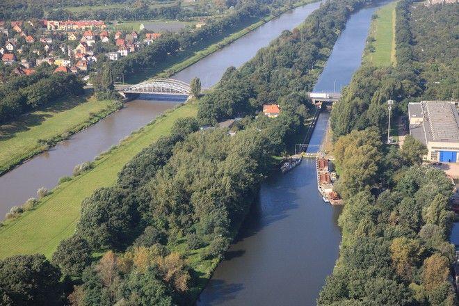 Mosty Jagiellońskie widziane z lotu ptaka. Remont czeka przeprawę widoczną na zdjęciu po lewej