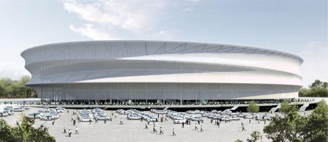 Tak stadion wyglądał na wizualizacjach