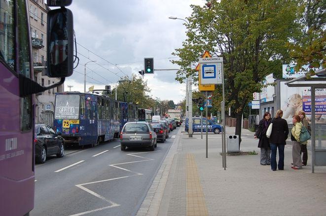Z powodu wypadku poruszanie się w rejonie ulicy Krakowskiej było utrudnione