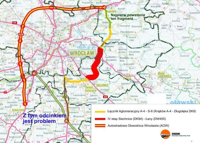 Problemy są z budową południowego i północnego odcinka tej trasy.