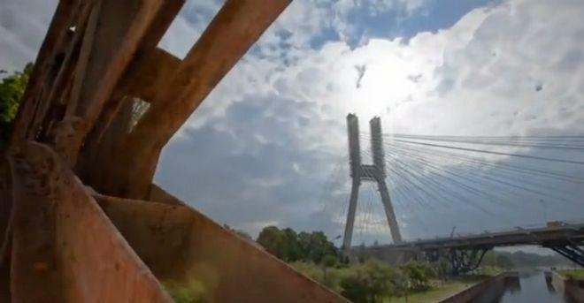 Film trwa 30 sekund i widzimy na nim m.in. most Rędziński