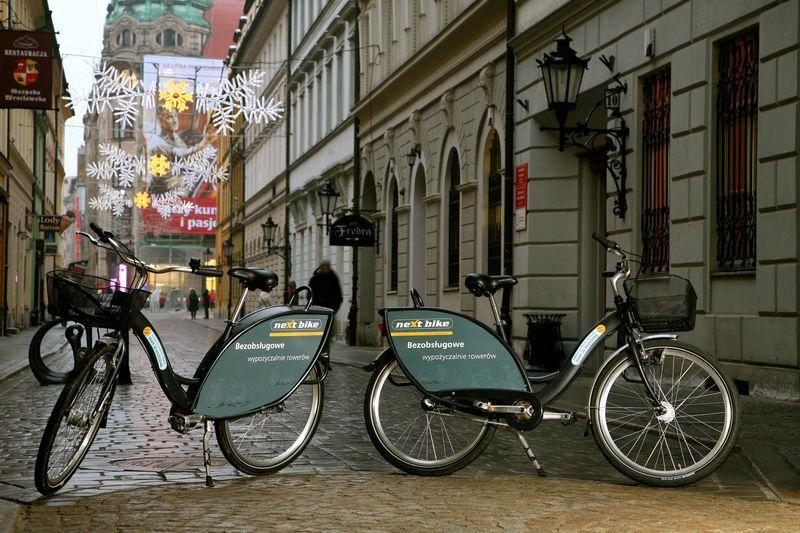 W takim malowaniu będą wrocławskie rowery miejskie.