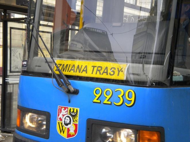 Dwie linie tramwajowe musiały zmienić swoje trasy