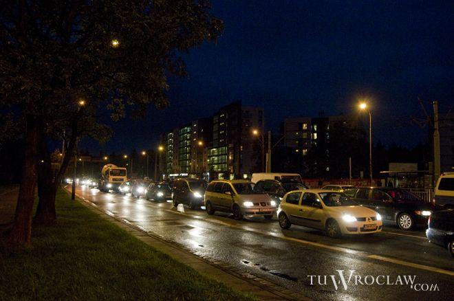Po sobotnim wypadku ulica Ślężna była przez wiele godzin zablokowana