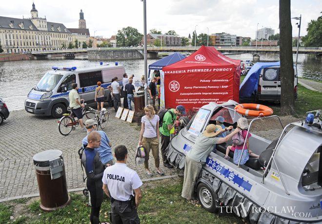 W ubiegły weekend policjanci z innymi służbami zorganizowali piknik na wyspie Słodowej, teraz będzie można ich podpatrzeć w Rynku