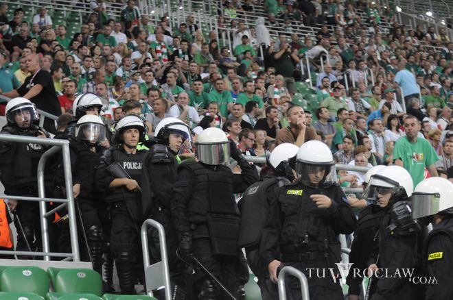 Tak wyglądały trybuny podczas meczu Śląska z Buducnostią Podgorica