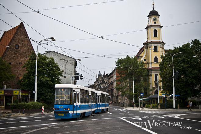 W ostatnich latach w rejonie placu Wróblewskiego infrastruktura szynowa jest często w remoncie