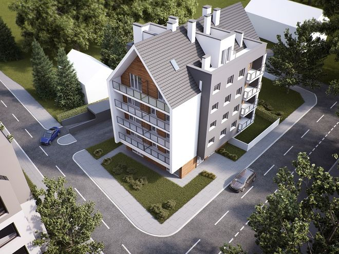Kameralny charakter inwestycji Trawowa 32 podkreśla to, że mieści się w niej  jedynie 17 unikatowych mieszkań