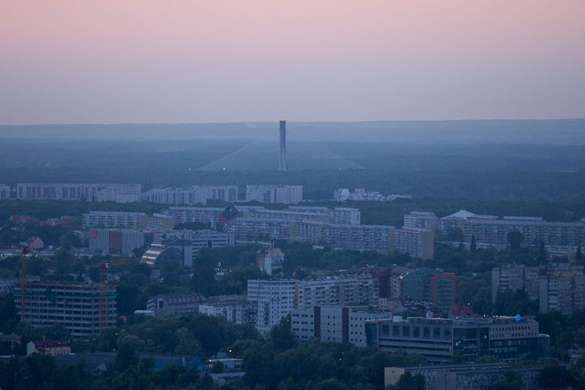 Widok na most Rędziński ze Sky Tower