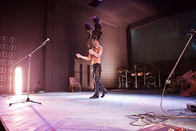 Bartosz Porczyk na próbie spektaklu ''Farinelli''