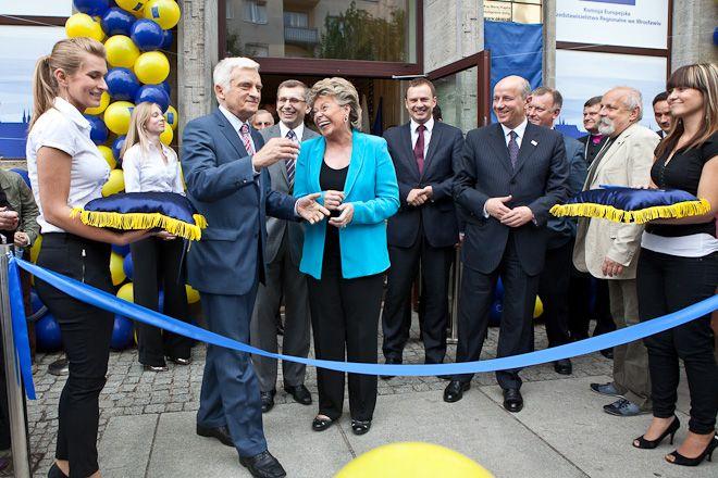 Uroczyste otwarcie Domy Europy w ubiegłym roku