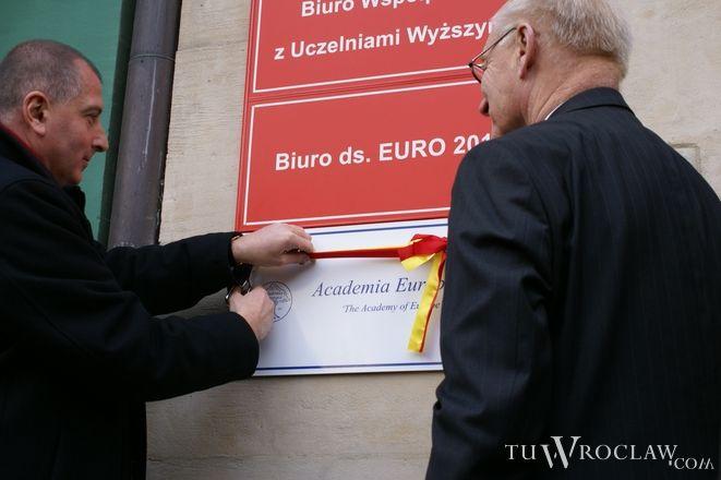 Rafał Dutkiewicz i prof. Lars Walloe oficjalnie otworzyli biuro Academia Europaea we Wrocławiu