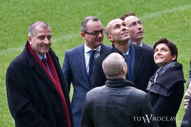 Na początku roku stadion zwiedzała minister sportu Joanna Mucha