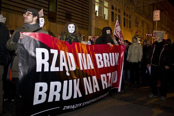 Protest przeciwko ACTA przeszedł przez Wrocław, Dominik Chrzan