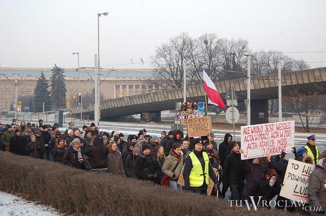 W marszu przeciw ACTA wzięło udział kilkaset osób