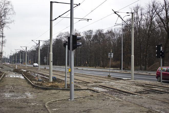Torowisko wzdłuż ulicy Pilczyckiej jest już gotowe