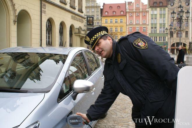 Strażnicy złapali wandala i przekazali w ręce policji
