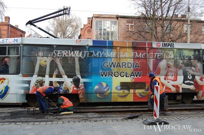 Po remoncie tramwaje na Curie-Skłodowskiej znów będą się mogły mijać