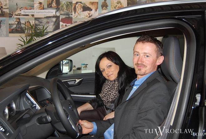Adam Małysz do Wrocławia przyjechał razem z żoną Izabelą
