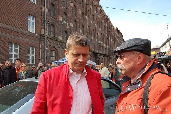 Janusz Palikot rozmawiał z mieszkańcami Wrocławia