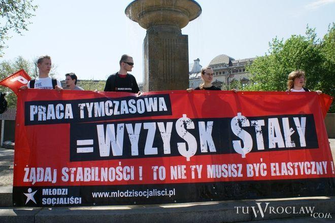 Początek manifestacji na placu Jana Pawła II