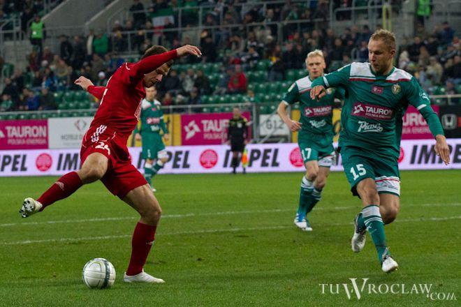Rafał Grodzicki w meczu z Wisłą Kraków zaprezentował się solidnie i miał swój wkład przy drugim golu dla Śląska.