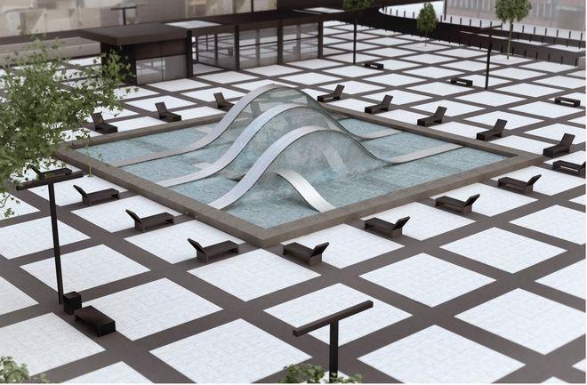 Taki projekt fontanny zwyciężył w konkursie zorganizowanym przez miasto