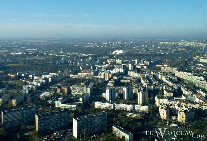 Taki widok roztacza się ze szczytu Sky Tower