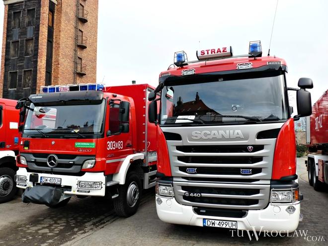 Minionej nocy strażacy mieli we Wrocławiu pełne ręce roboty