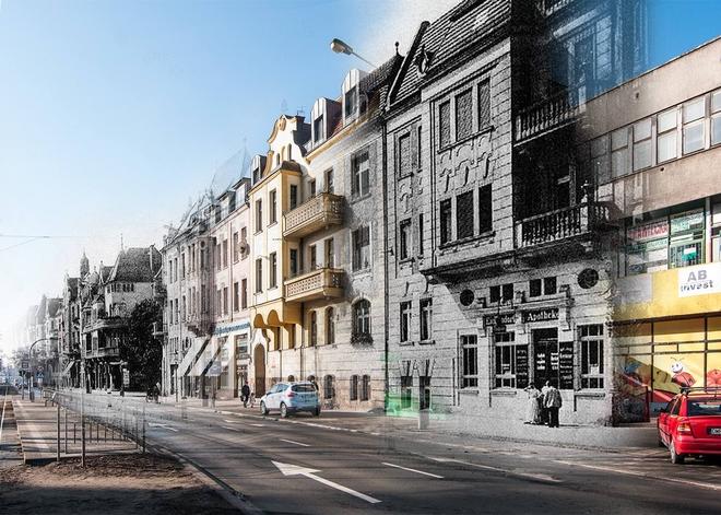 Wrocławianin Sebastian Kończak tworzy fotomontaże z dawnych i współczesnych zdjęć Wrocławia