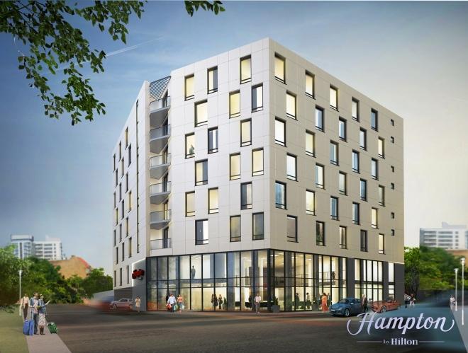 Tak będzie wyglądał hotel sieci Hampton by Hilton przy ul. Sikorskiego