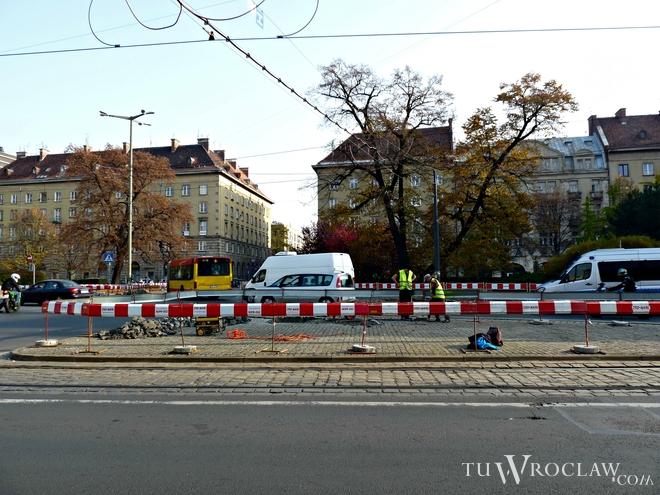 Na początku listopada rozpoczęła się budowa świateł na placu Kościuszki