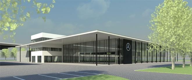Tak będzie wyglądać nowa siedziba grupy Wróbel, dealera Mercedes Benz