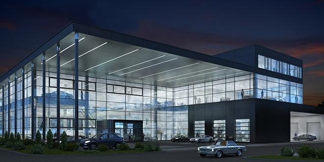 Tak będzie wyglądał nowy salon Mercedesa przy ulicy Granicznej