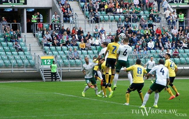 Do incydentu doszło w trakcie pucharowego meczu Śląska Wrocław z NK Celje