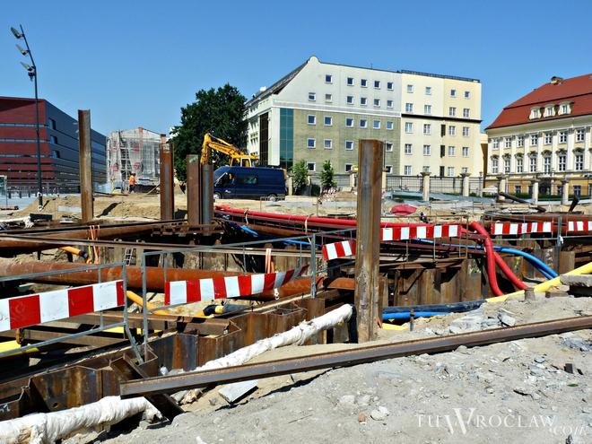 Przebudowa ulicy Zamkowej trwa od wielu miesięcy