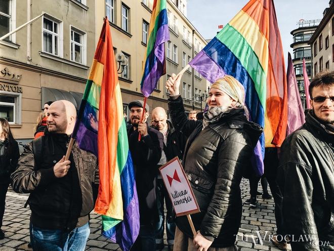 W sobotę w Rynku odbyła się manifestacja ''Wrocław przeciwko nienawiści''