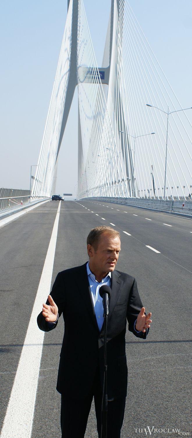 Tusk: obwodnica Wrocławia będzie darmowa, bo zostanie drogą szybkiego ruchu, bk