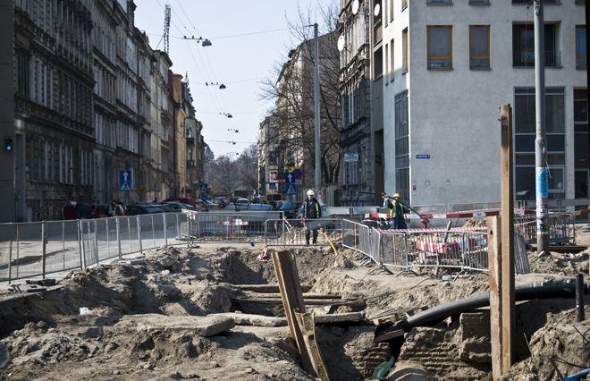 Główne roboty przy przebudowie ulicy Pułaskiego zakończą się w ciągu dwóch miesięcy