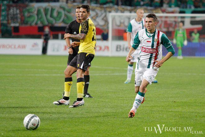 Waldemar Sobota w meczu z Sevillą - 29 sierpnia 2013