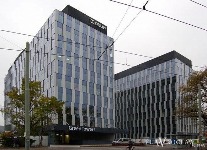 Ozdobą okolic placu Strzegomskiego jest kompleks Green Towers
