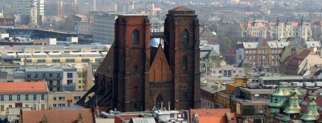 Współczesny widok na kościół św. Marii Magdaleny (z wiezy kościoła św. Elżbiety)