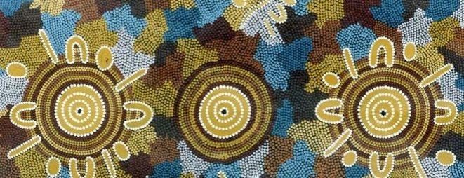 Malarstwo kropkowe aborygeńskich artystek ze społeczności Lajamanu z Australii