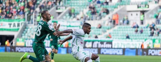 Flavio Paixao strzelił jedynego gola w meczu Śląsk - Lechia. I dzięki niemu wrocławianie mogą dalej walczyć o awans do Ligi Europy.