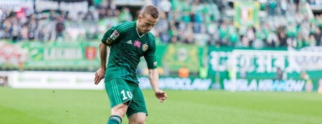 Robert Pich miał w meczu z Lechią Gdańsk okazję - marzenie, ale z 5 metrów trafił tylko w słupek zamiast do bramki rywala