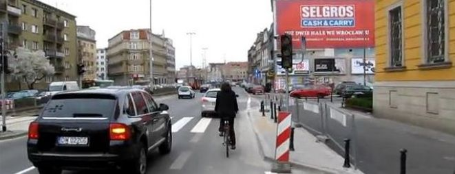 W ubiegłym roku ścieżka rowerowa pojawiła się m.in. na ul. Kazimierza Wielkiego, między Krupniczą a Zamkową