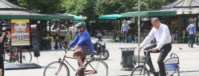 Na rowerze zdarza się jeździć także prezydentowi miasta