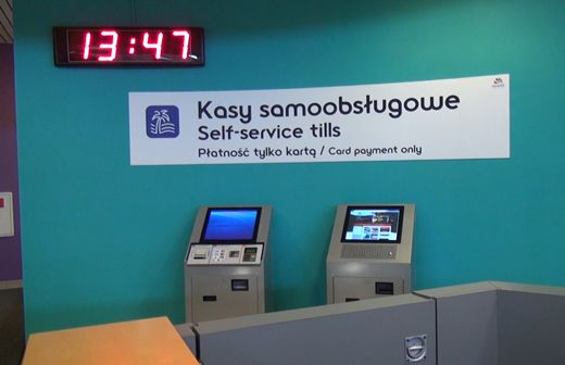 W Aquaparku są też już nowe kasy samoobsługowe